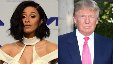 Cardi B and Donald Trump. (Credit: Deposit Photos)