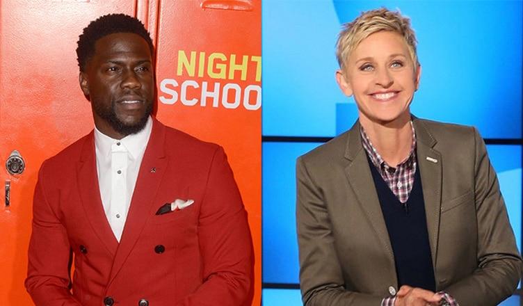 "Kevin Hart and Ellen DeGeneres (Deposit Photos and ""Ellen"")"