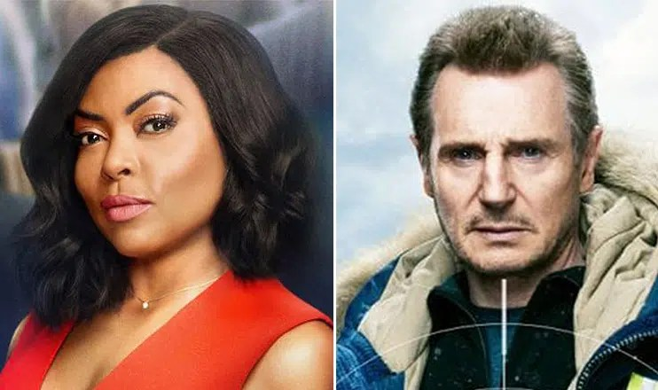 Taraji P Henson and Liam Neeson. (Credit: Paramount and Lionsgate)