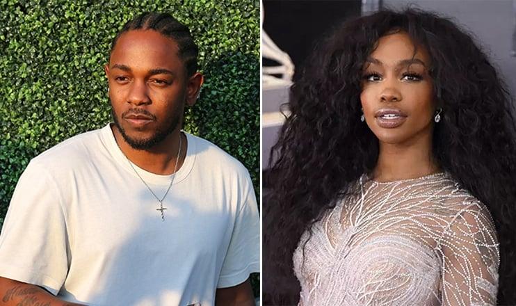 Kendrick Lamar and SZA (Credit: Shutterstock)