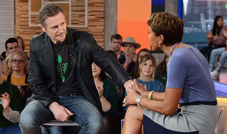 """Liam Neeson appeared on """"Good Morning America"""" Tuesday. (Credit: ABC)"""