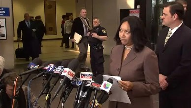 Cook County prosecutors hold a news conference about the Jussie Smollett case. (Credit: YouTube/ABC News)