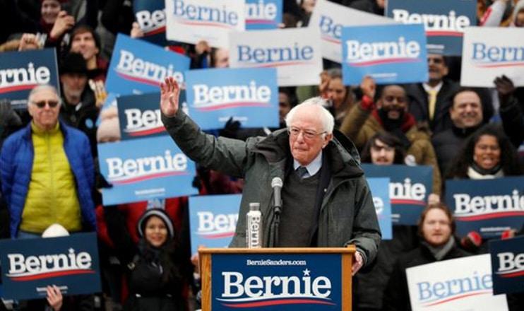 Bernie Sanders held a big rally in New York City in Feb. 2019. (Credit: YouTube)