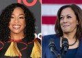 Shonda Rhimes and Kamala Harris. (Credit: Deposit Photos and YouTube)