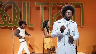 """Sinqua Walls as Don Cornelius from BET's """"American Soul"""" (Photo: Jace Downs/BET)"""