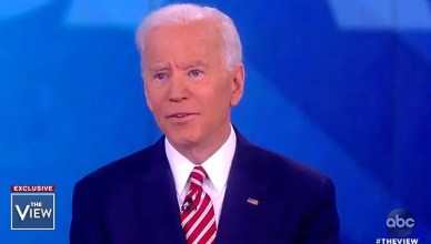 Joe Biden Appears on The View. (Credit: ABC)