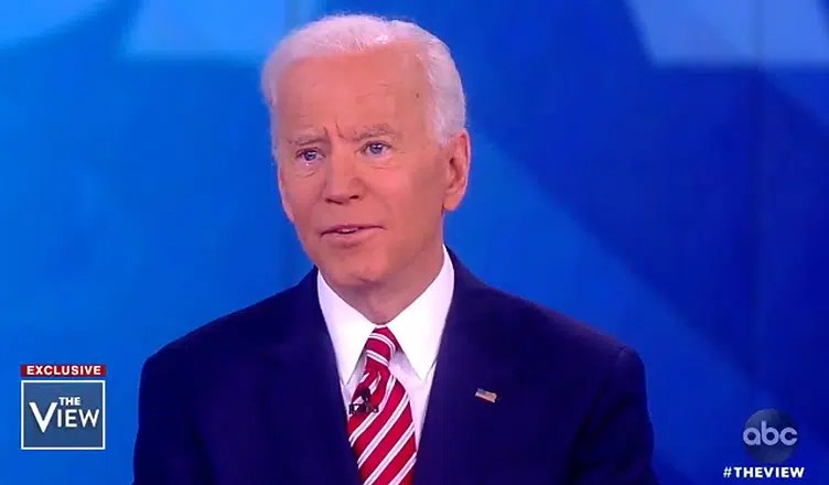 Joe Biden Appears on The View. (Credit: ABC)