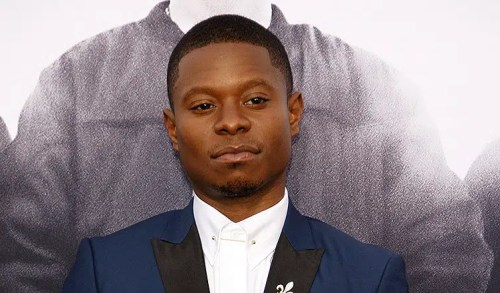 Jason Mitchell at the Los Angeles premiere of 'Straight Outta Compton' held at the Microsoft Theater in Los Angeles. (Credit: PopularImages/Deposit Photos)