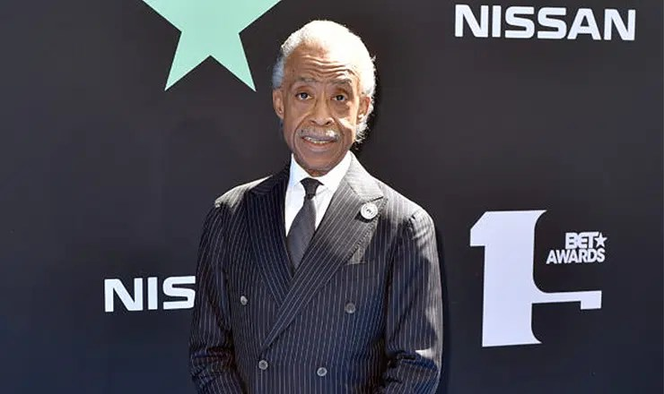 Al Sharpton Arrives at the 2019 BET Awards in Los Angeles on Sunday, June 23, 2019. (Credit: Urban Hollywood 411)