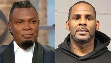 Darrell Johnson and R. Kelly (CBS and Booking Photo)