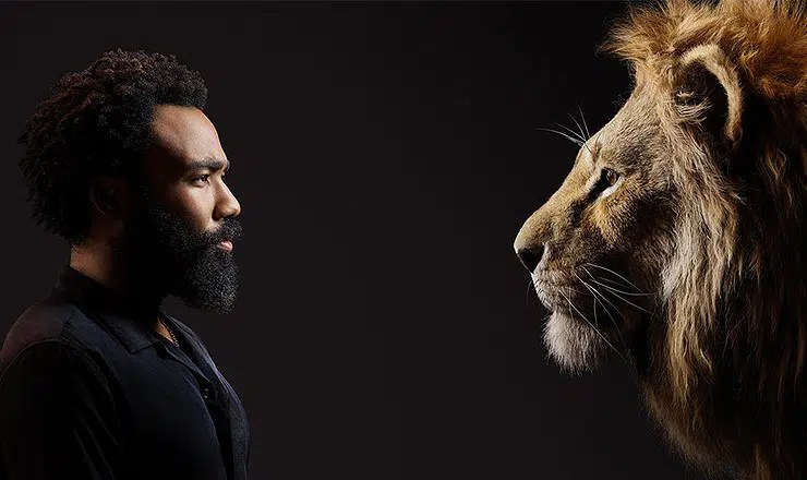 "Donald Glover plays Simba in ""The Lion King."" (Credit: Walt Disney Pictures)"