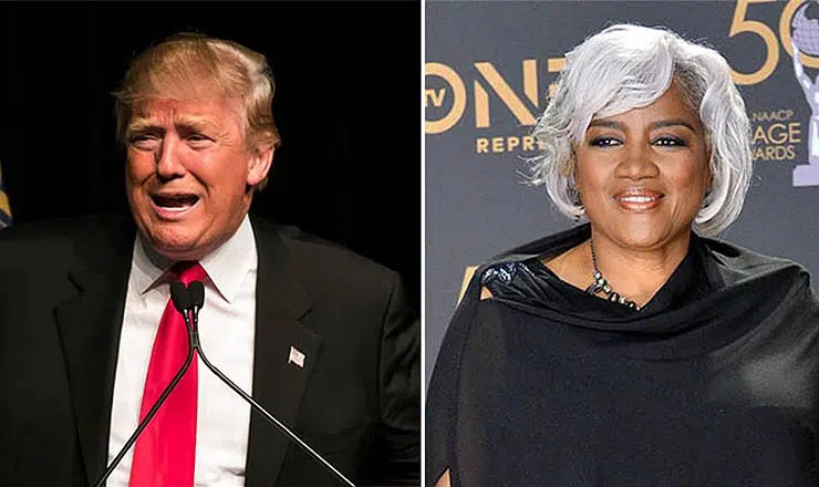 Donald Trump and Donna Brazile (Credit: Shutterstock)