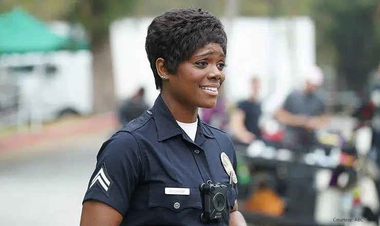 Afton Williamson in The Rookie. (Credit: ABC)