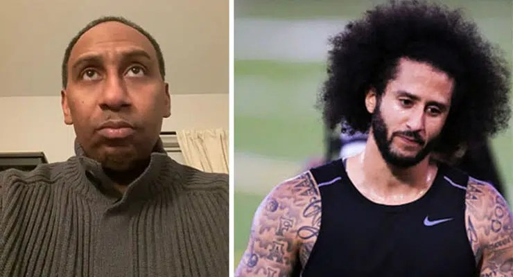 Stephen A Smith and Colin Kaepernick (Credit: YouTube)
