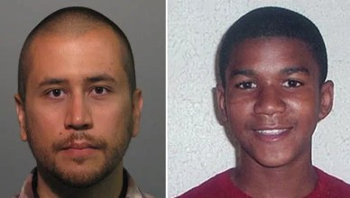 George Zimmerman and Trayvon Martin (Booking Photo and Family Photo)