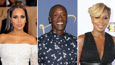 TV Stars Salaries Kerry Washington, Don Cheadle, Mary J. Blige (Credit: Deposit Photos)