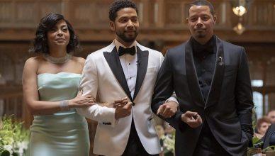 Jussie Smollett is shown in the wedding scene from Empire Season 5 (Credit: Fox)