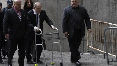 Harvey Weinstein arrives for court in New York. (Credit: YouTube)