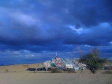 Salvation Mountain is a neighboring settlement & art installation in Slab City