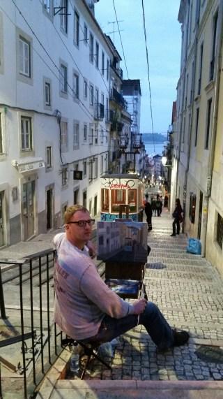 En Plein painting in Lisbon