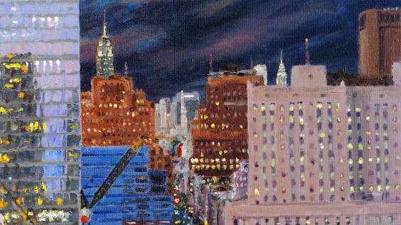 The Empire State and Chrysler Buildings