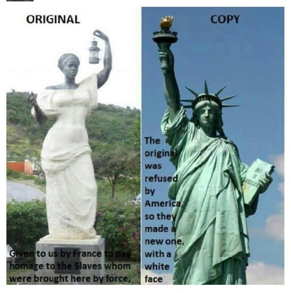 The original statue of liberty presented to the us was a statue it is hard to believe that after my many years of schooling secondary and post the following facts about the statue of liberty was never taught biocorpaavc
