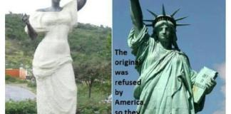"""The Original Statue of Liberty presented to the U.S. was a Statue of a...""""Black Woman""""."""