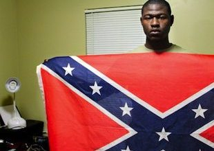 """Black college student hangs Confederate flag in dorm room, admits it's """"kind of weird"""""""