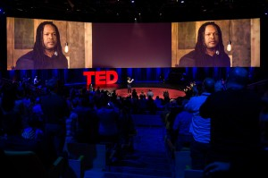 Shaka on the prestigious TED Talks stage.