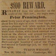 Bounty on the Head of Peter Pennington