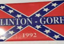 Do Your Research: Hillary Clinton Not Talking About '92 Clinton-Gore Confederate Campaign Button