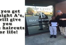 BARBER GIVES 9-YEAR-OLD FREE HAIRCUTS FOR LIFE FOR STRAIGHT-A REPORT CARD
