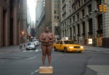 Inspired By Sarah Baartman, Black Woman Artist Poses Nude at Former New York City Slave Trading Sites, Including Wall Street 1
