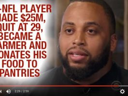 Ex-NFL Player Made $25m, Quit At 29, Became A Farmer And Donates His Food To Pantries