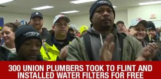 Did You Know? 300 Union Plumbers Took To Flint And Installed Water Filters FOR FREE Over The Weekend!