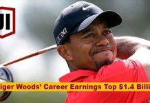 Tiger Wood's Career Golf Earnings Surpassed $1.4 Billion Dollars 2
