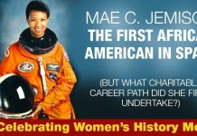 Mae C. Jemison The First African American In Space (But What Charitable Career Path Did She First Undertake?)