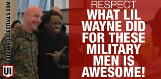 RESPECT: What Lil Wayne Did For These Military Men Is Awesome! 2