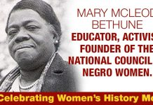 Mary McLeod Bethune, Educator, Activist, Founder Of The National Council of Negro Women.