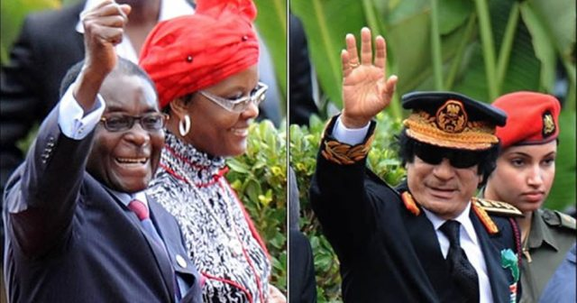 Mugabe and Gaddafi