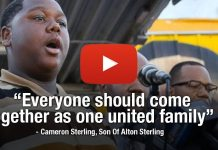 BRAVE YOUNG MAN: Watch The 15-Year-Old Son Of #AltonSterling Calling For Unity