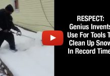 RESPECT: Genius Invents Use For Tools To Clean Up Snow In Record Time!
