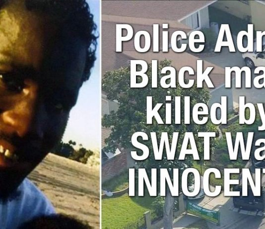 Police Admit Black man killed by SWAT Was INNOCENT!