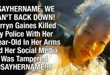 #SAYHERNAME, WE CAN'T BACK DOWN!  Korryn Gaines Killed By Police With Her 5-Year-Old In Her Arms And Her Social Media Was Tampered #SAYHERNAME!!!