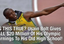 IS THIS TRUE? Usain Bolt Gives ALL $20 Million Of His Olympic Earnings To His Old High School!