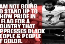 Colin Kaepernick Protests USA National Anthem Due Treatment Of Black People