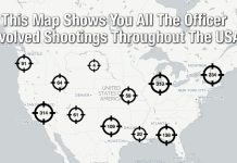 This Map Shows You All The Officer Involved Shootings Throughout The USA 3