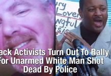 Black Activists Turn Out To Rally For Unarmed White Man Shot Dead By Police