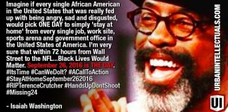 YOU IN? SEPT 26 BLACK OUT DAY: Isaiah Washington's Perfect Police Brutality Solution