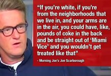 """TRUTH: """"Who cares if Terence Crutcher had PCP? I wouldn't get shot over 'pounds of coke',"""" - Morning Joe!"""